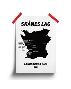 Skånes lag, 50x70 cm poster, butiksexklusivt